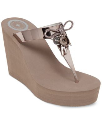 BCBGeneration Hank Platform Wedge Thong Sandals