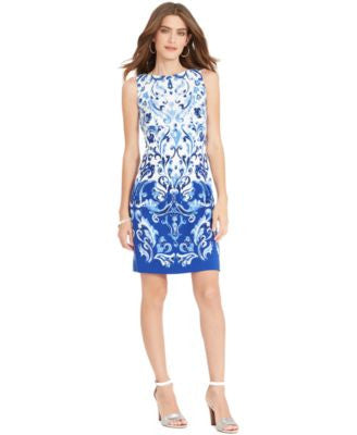 Lauren Ralph Lauren Sleeveless Printed Dress