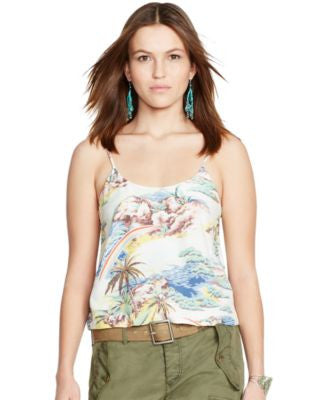 Polo Ralph Lauren Hawaiian-Print Tank Top