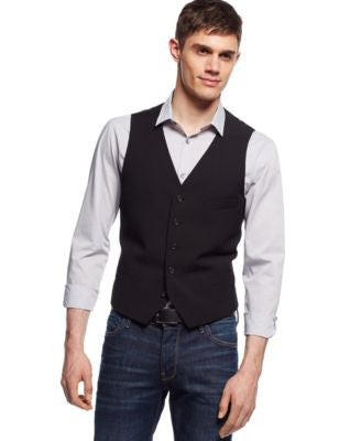 Alfani Slim Vest, Fitted 4 Pocket Vest