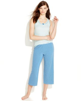 Tommy Hilfiger Rib Knit Tank and Capri Pajama Pants Separates