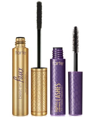tarte best in faux lash extending fibers + deluxe lights, camera, lashes mascara