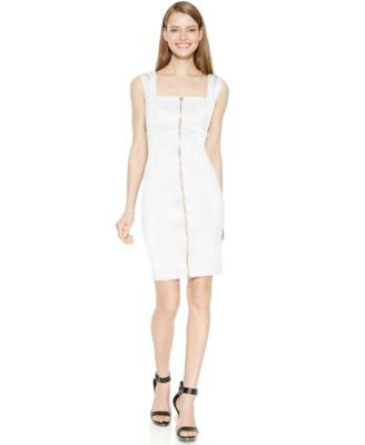 Calvin Klein Zip-Front Sheath Dress