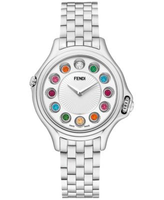 Fendi Timepieces Women's Swiss Crazy Carats Diamond and Multi-Stone (1-3/5 ct. t.w.) Stainless Steel