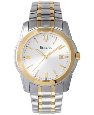 Bulova Men's Two Tone Stainless Steel Bracelet Watch 40mm 98H18