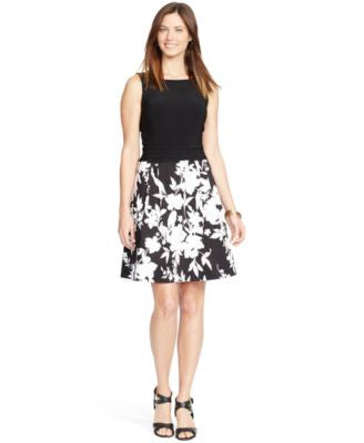 American Living Sleeveless Contrast Dress