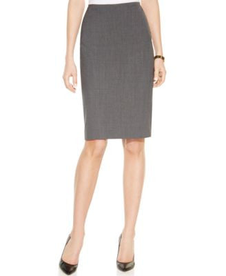 Anne Klein Tropical Wool-Blend Pencil Skirt