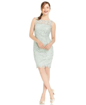Adrianna Papell Lace Illusion Sheath Dress