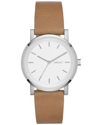 DKNY Women's Soho Light Brown Leather Strap Watch 34mm NY2339