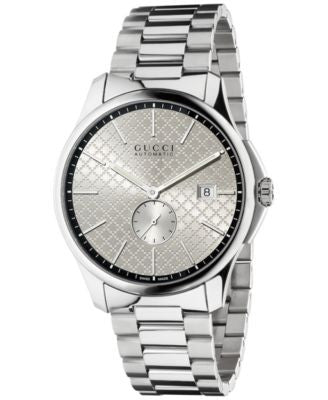 Gucci Unisex Swiss Automatic G-Timeless Stainless Steel Bracelet Watch 40mm YA126320