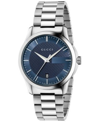 Gucci Unisex Swiss G-Timeless Stainless Steel Bracelet Watch 38mm YA126440