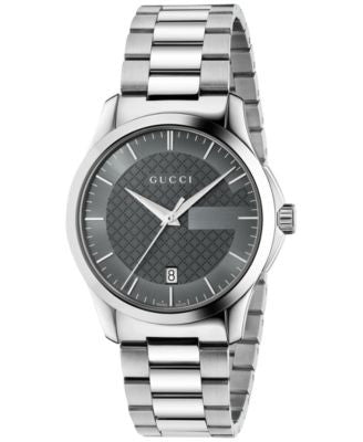 Gucci Unisex Swiss G-Timeless Stainless Steel Bracelet Watch 38mm YA126441