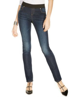 INC International Concepts Petite Pull-On Skinny Jeggings, Sunday Wash
