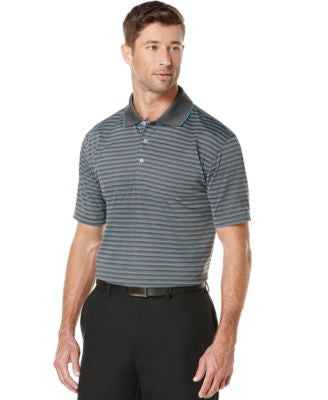 PGA TOUR Men's Big & Tall Airflux Stripe Polo