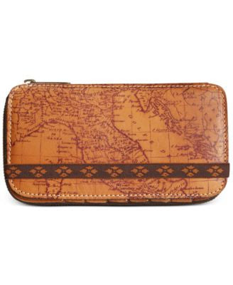 Patricia Nash Signature Map Oria Zipper Bifold Wallet