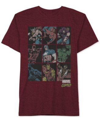 Jem Men's Marvel Hero Squares T-Shirt