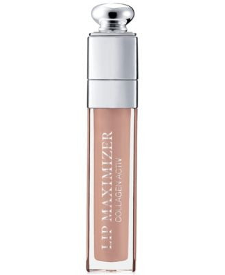 Dior Addict Lip Maximizer Instant volume booster gloss Collagen Activ., Beige Sunrise