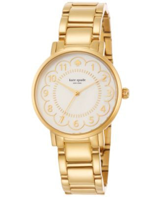 kate spade new york Women's Gramercy Gold-Tone Stainless Steel Bracelet Watch 34mm 1YRU0789