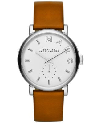 Marc by Marc Jacobs Women's Baker Mocha Textured Leather Strap Watch 37mm MBM1265