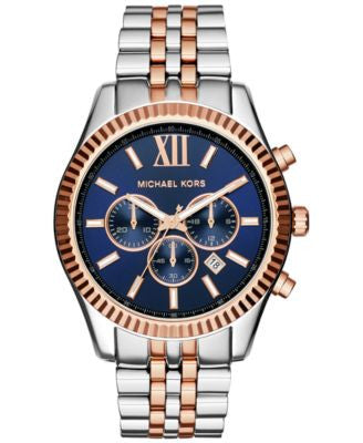 Michael Kors Men's Chronograph Lexington Two-Tone Stainless Steel Bracelet Watch 45mm MK8412