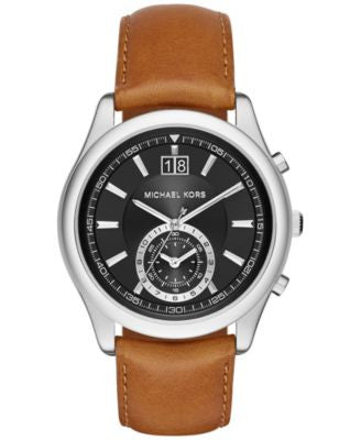 Michael Kors Men's Chronograph Aiden Luggage Leather Strap Watch 43mm MK8416