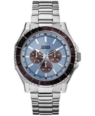 GUESS Men's Silver-Tone Bracelet Watch 43mm U0479G2