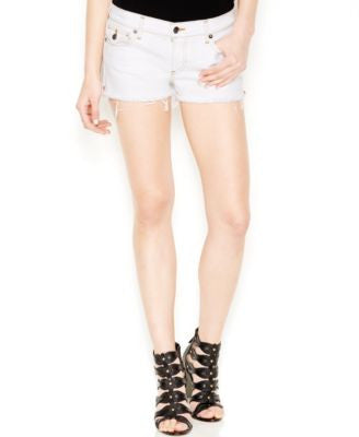 True Religion Joey Denim Cutoff Shorts, Optic White Wash