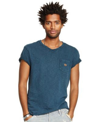 Denim & Supply Ralph Lauren Men's Indigo-Dyed Pocket T-Shirt