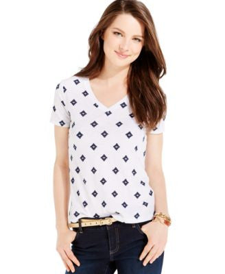 Tommy Hilfiger Ikat Diamond V-Neck Tee