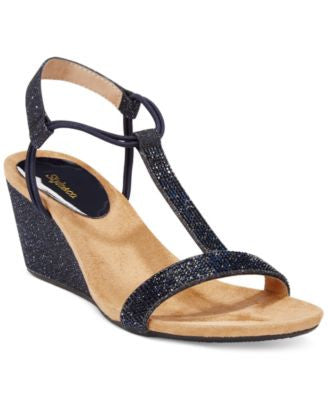 Style&co. Mulan2 Embellished Evening Wedge Sandals, Only at Vogily