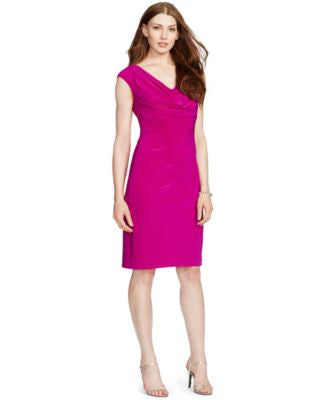 Lauren Ralph Lauren Draped Cowl-Neck Dress