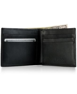 Polo Ralph Lauren Men's Accessories, Burnished Leather Billfold Wallet