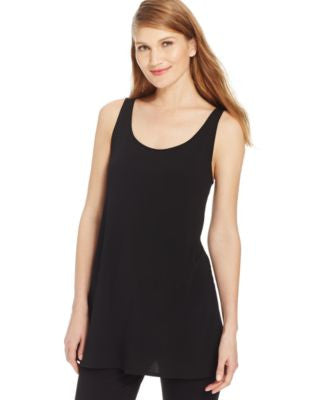 Eileen Fisher Petite Silk Tunic Tank Top