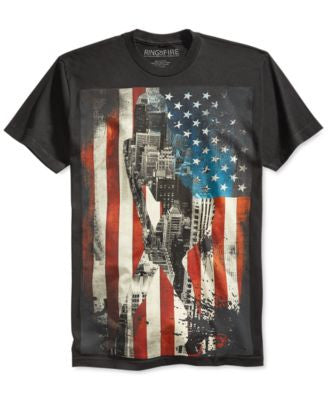 Ring of Fire Men's American Flag T-Shirt