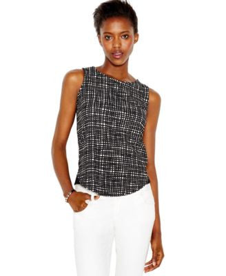 Bar III Sleeveless Printed Top