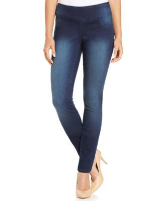 Style & Co. Curvy-Fit Pull-On Jeggings, Rinse Wash