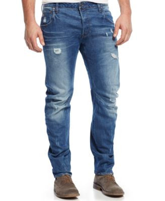 G-Star RAW Men's Arc Slim-Fit Torn & Washed Jeans