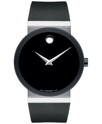 Movado Men's Swiss Sapphire Synergy Black Rubber Strap Watch 42mm 0606780