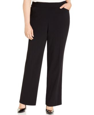 JM Collection Plus Size Pull-On Wide-Leg Pants, Only at Vogily