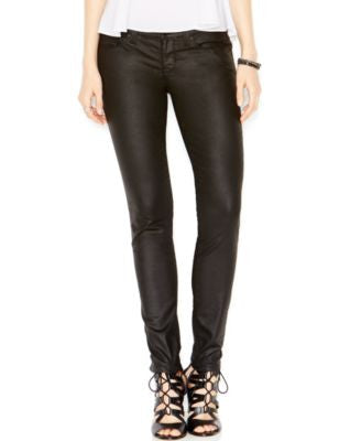 GUESS Power Coated Black Silicone Rinse Skinny Jeans