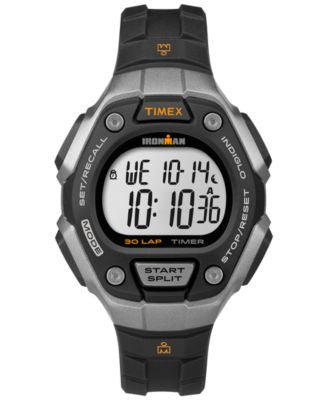 Timex Women's Digital Ironman 30 Lap Black Resin Strap Watch 36mm TW5K89200UM
