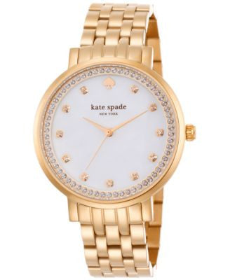 kate spade new york Women's Monterey Rose Gold-Tone Stainless Steel Bracelet Watch 1YRU0822