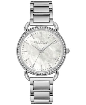 Caravelle New York by Bulova Women's Stainless Steel Bracelet Watch 34mm 43L184