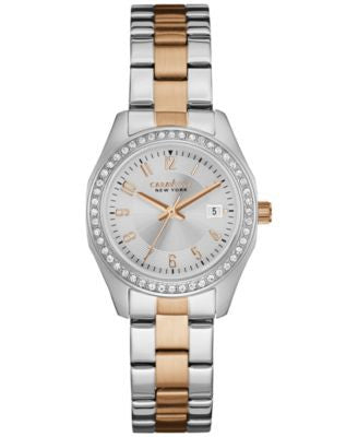 Caravelle New York by Bulova Women's Two-Tone Stainless Steel Bracelet Watch 28mm 45M108