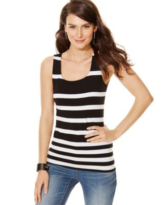 INC International Concepts Striped Tank Top, Only at Vogily