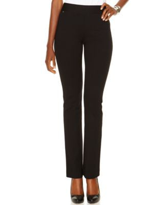 INC International Concepts Petite Pull-On Straight-Leg Pants, Only at Vogily