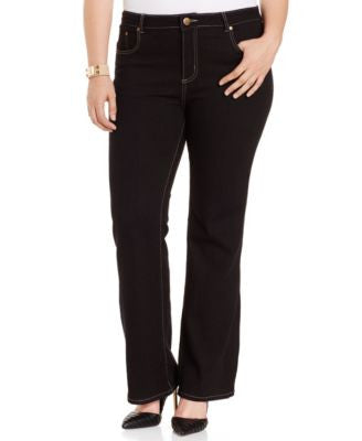 City Chic Plus Size Bootcut Jeans, Black Wash