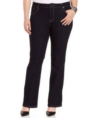 City Chic Plus Size Bootcut Jeans, Dark Blue Wash
