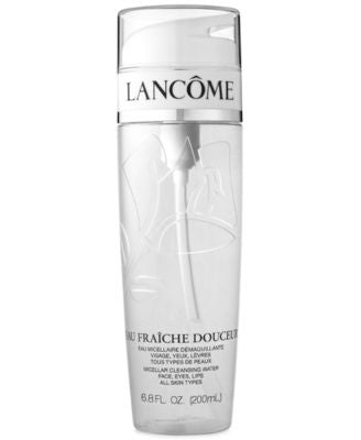 Lancôme EAU FRAÎCHE DOUCEUR Micellar Cleansing Water Face, Eyes, Lips, 6.8 fl oz