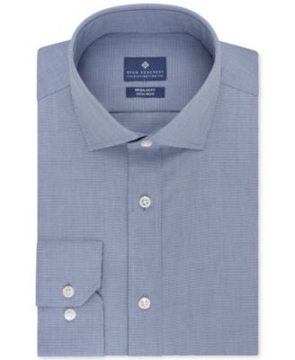 Ryan Seacrest Distinction Men's Classic-Fit Non-Iron Check Dress Shirt